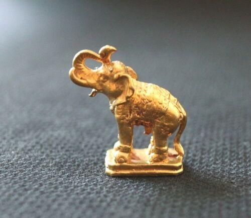 1 TRUNK UP FENG SHUI MINI BRASS THAI ELEPHANT GOOD LUCK ANIMAL FIGURE HOME DECOR