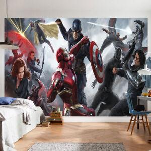 Details About Avengers Marvel Wallpaper Mural Photo Superhero Children Kid Room Poster Deco
