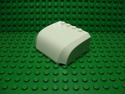 Set of 2 Slope 55 6 x 1 x 5  WHITE LEGO LEGOS