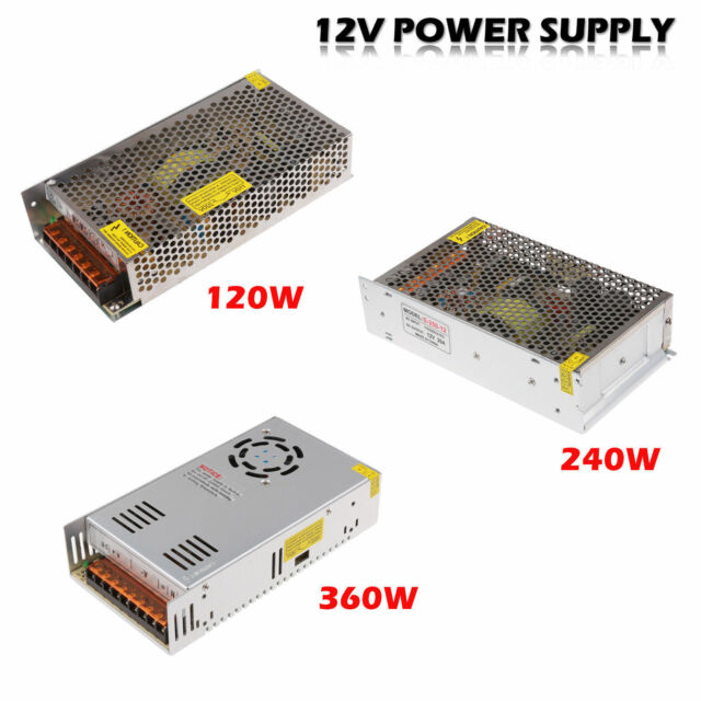 DC 12V 10A 20A 30A Universal Regulated Power Supply Adaptor For LED Light Strips