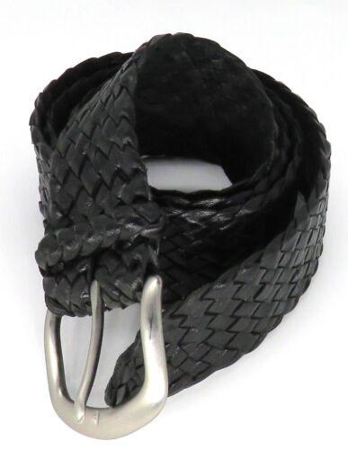 """/""""Jumbuck/"""" Hand Plaited 12 plait Kangaroo Leather Belt Handcrafted in Australia"""