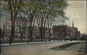 Waterbury-CT-Street-Scene-c1910-Postcard