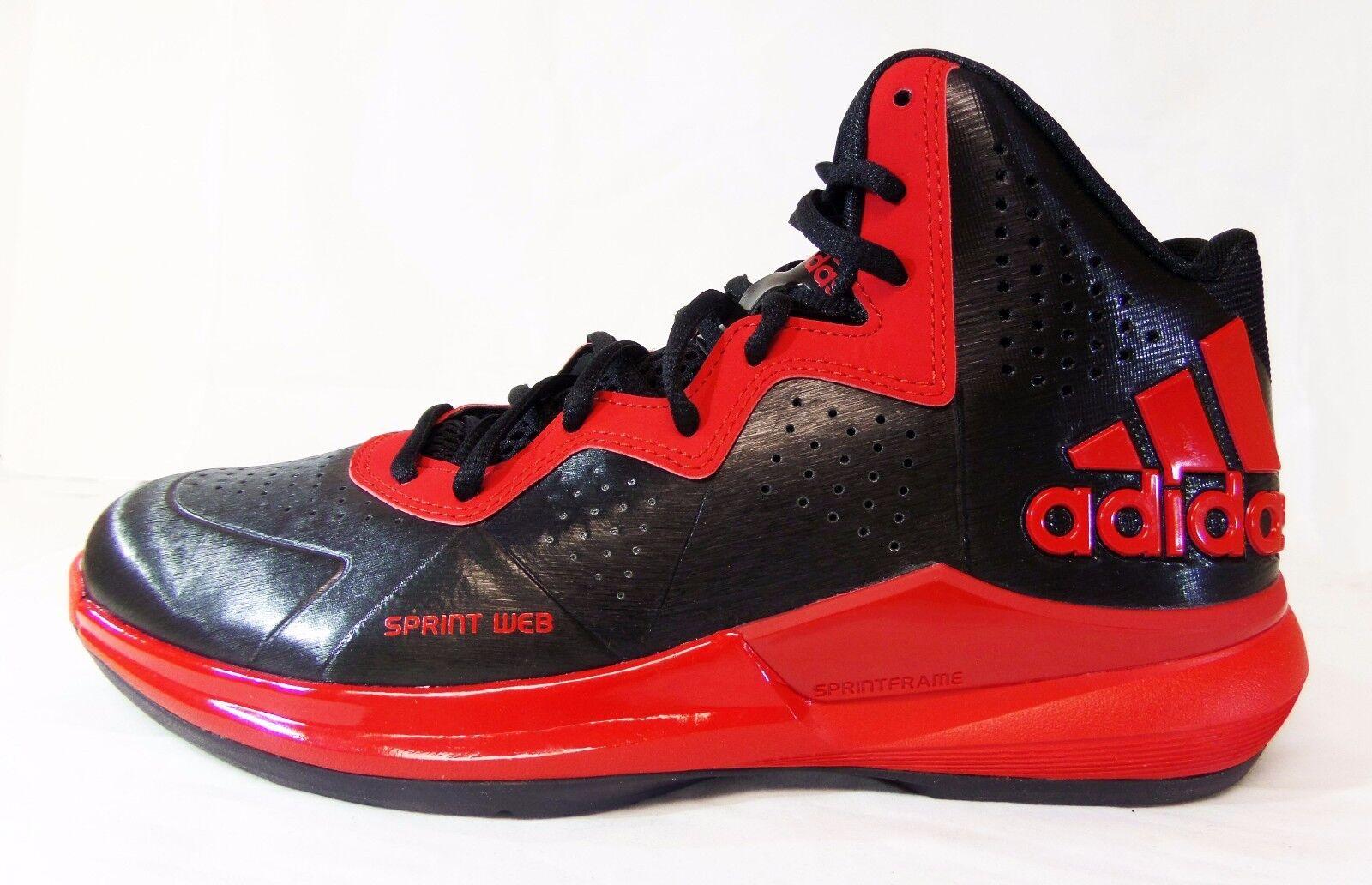 Adidas uomini 'intimidire scarpe da basket nero / rosso c75558 a1