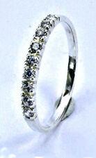 5 mm zierlich zart massiver Sterling Silber 925 Solitär Ring mit Zirkonia Ø ca