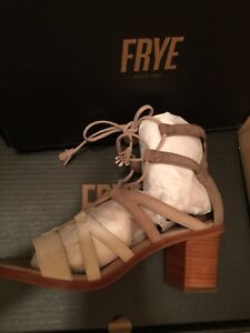a878809a0536 Image is loading Frye-Brielle-Gladiator-White-Multi-Suede-Sandal-Lace-