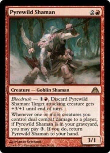 PYREWILD SHAMAN Dragon's Maze MTG Red Creature—Goblin Shaman RARE