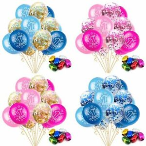 Details About 15pcs Round 12 Inches Balloons Baby 1 Year Old First Birthday Party Decor Great