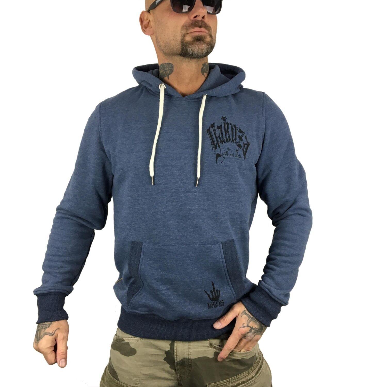 YAKUZA - - - Herren Hoodie HOB 9063  Daily Use  Blau melange (blau meliert)  | Zürich Online Shop  e593bb