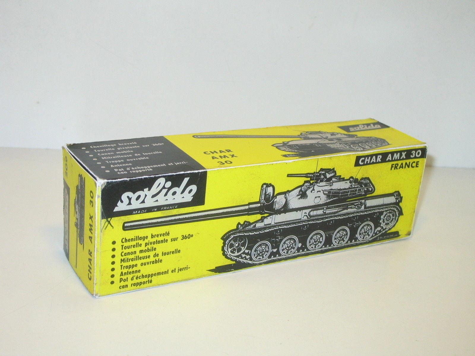 N01, Schachtel Panzer AMX 30 Militär REPRO Solido