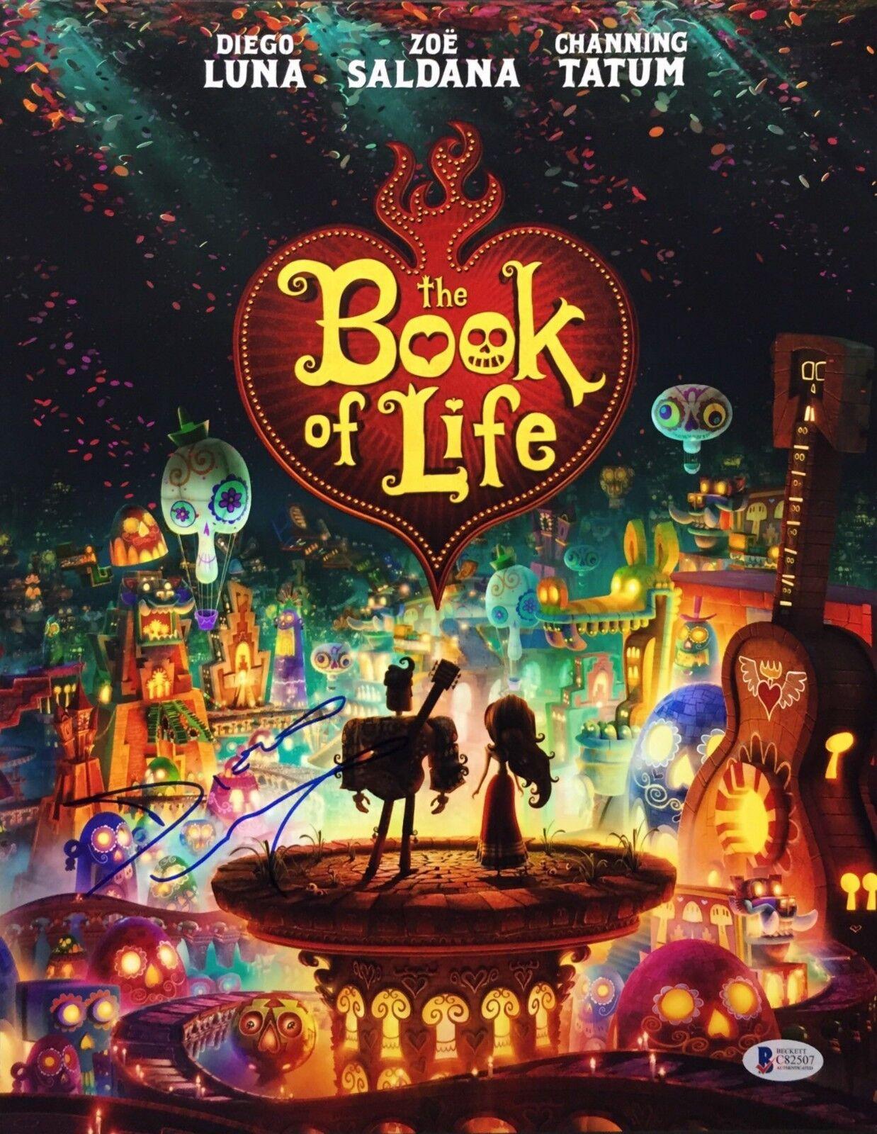Diego Luna Signed Book Of Life 11x14 Photo Beckett C82507