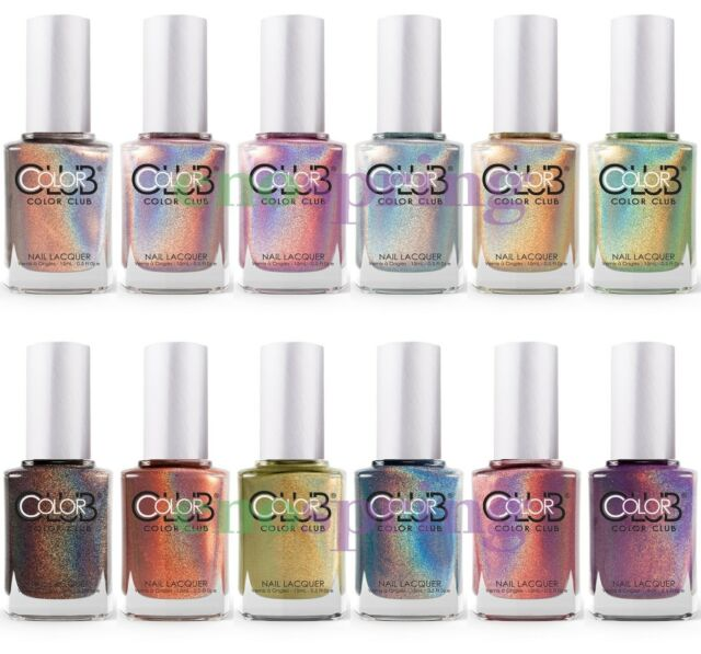 Color Club Halo Hues Holographic Nail Polish Lacquer Set of 11