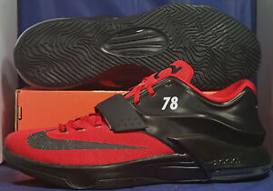 a29817782e67 Nike KD VII 7 iD Black Red Kevin Durant SZ 15 ( 704380-997 )