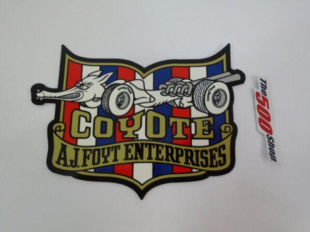 Coyote AJ Foyt Enterprises Collector Die Cut Decal Indianapolis 500 IndyCar USAC