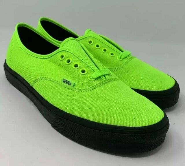 black vans green laces