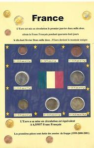 8 pièces EURO - FRANCE - 1999-2000-2001 - Série - FDC -  (Sous vide)