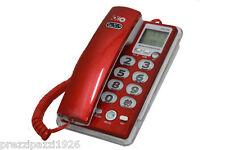 TELEFONO FISSO CON DISPLAY CAMERETTA DATA CORNETTA COLORATO ROSSO ROSA NERO BLU