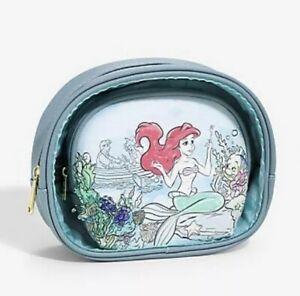 Loungefly-Disney-The-Little-Mermaid-Under-the-Sea-Cosmetic-Bag-NEW