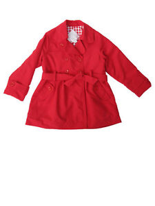 a2b1d676c Sarah Louise Toddler   Little Girls Red Rain Jacket Trench Style ...