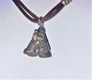 Campo-Iron-Meteorite-Iron-Nickel-Men-039-s-Jewelry-Necklace