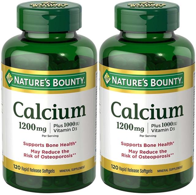 Nature's Bounty Calcium 1200mg. Plus Vitamin D3 - 2 Packs of