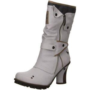 100 1141606 Mustang Stiefel Weiß Details Damen 545174 Zu gyf7b6