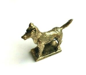 Rat Mouse hold money Miniature Figurine Brass Statue Lucky Wealth Rich Amulet