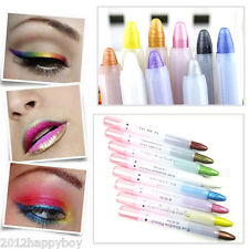 Hot 1Pc White Glitter Lip liner Eye Shadow Eyeliner Pencil Pen Cosmetic Makeup