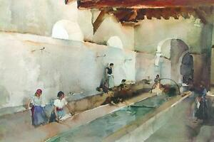 Russell-Flint-RIPPLES-AND-CHATTER-Figurative-Art-Ladies