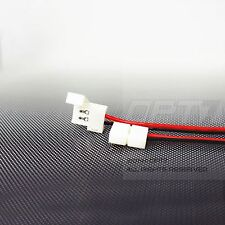 10pc - OPT7 E-Z LED Strip Connectors - 10mm 2 Pin - 5050 Solderless Strips 10x