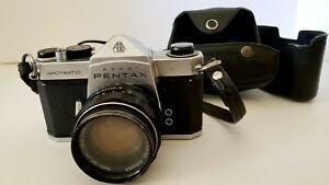Asahi-Pentax-Spotmatic-SP-35MM-Film-Camera-W-Super-Takumar-1-1-4-50-UNTESTED