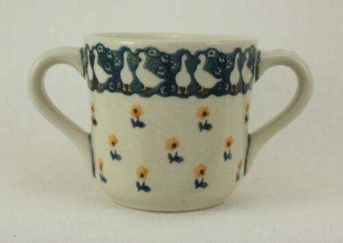 Bunzlauer Keramik Tasse Kinder Gänse 2Henkel Becher K094-P322 0,2 Liter