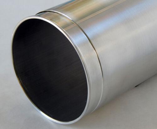 Air intake pipe 5.0 OD x 13 straight wall heavy tube aluminum undercut ends