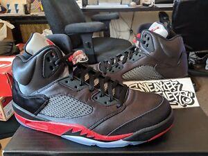 newest collection b81fc 72e9c Image is loading Nike-Air-Jordan-Retro-V-5-Satin-Black-