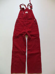 Levi-039-s-Cord-Latzhose-Latz-Jeans-Cordhose-W-29-ROT-Overall-Made-in-France