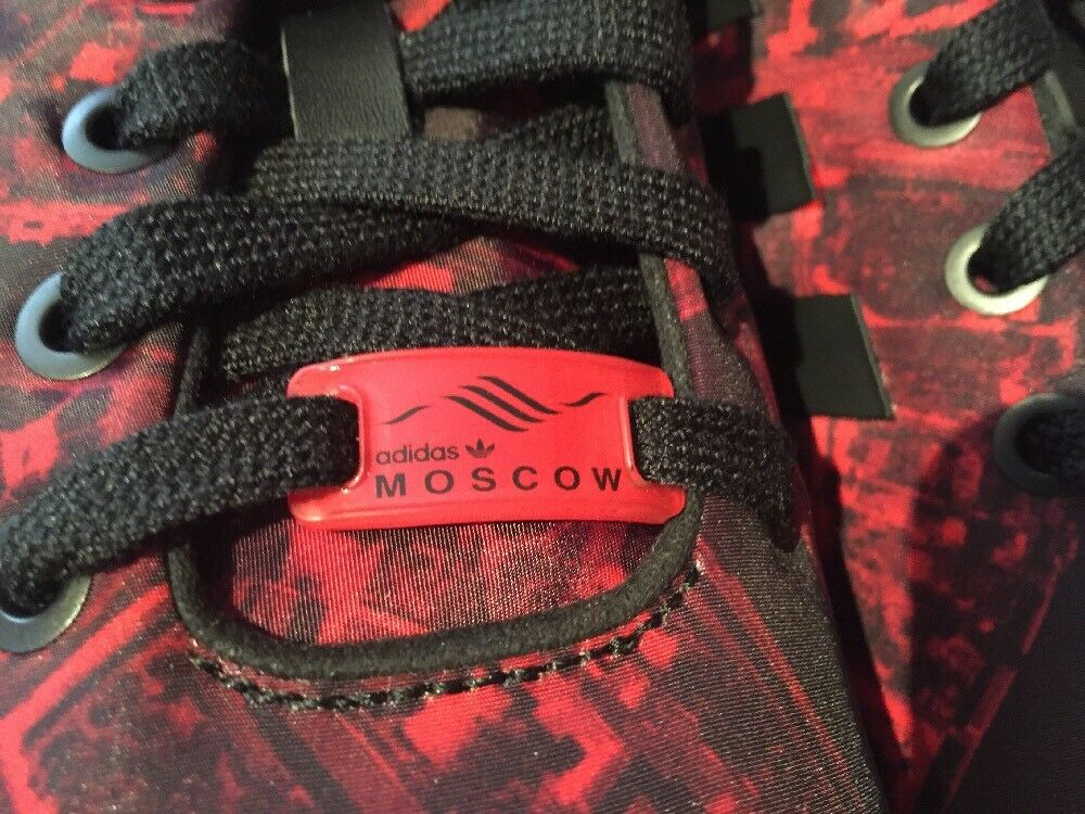 Adidas zx - flux - stadt pack pack pack moskau rote mens größe 9 m21775 limited edition. 289fca