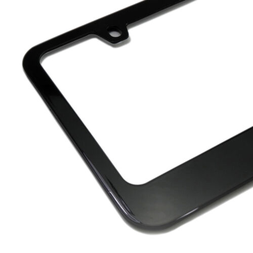Ford F-150 Platinum Black Metal License Plate Frame Warranted Made in USA
