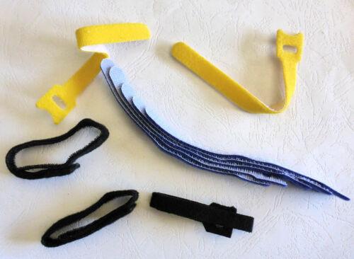 5 Hook /& Loop Fasteners Organisers Cables  Cords Home Wares House Garden Garage