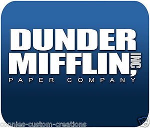 Image Is Loading The Office Mouse Pad Mousepad Dunder Mifflin Paper