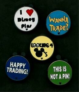 DISNEY-PIN-HM-034-TRADING-PHRASES-034-COMPLETE-5-PIN-SET