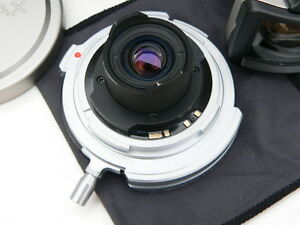 Contax-G-Carl-Zeiss-16mm-f-8-Hologon-T-lens-with-caps-filter-finder-case-MINTY