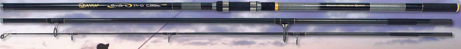 QUANTUM Smart PRO CAST 420 14FT Beachcaster Pesca Rod 3 pezzi