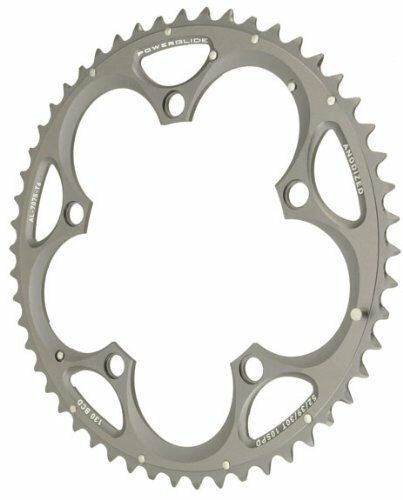New SRAM Truvativ Powerglide 53-tooth Standard Road Chainring  130BCD Double Grey  100% genuine counter guarantee