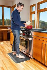 Details about Sky Mats Leather Grain Comfort Anti Fatigue Mat Kitchen Rug  20x32x3/4 Inch Black