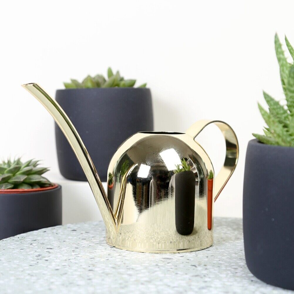 500ML Watering Can Stainless Steel Plant Sprinkling Pot Long Spout Indoor Garden