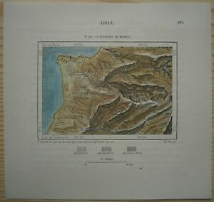 1884-Perron-map-BEIRUT-WITH-MOUNTAINS-LEBANON-122