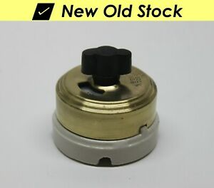 ⭐ Vintage Circle F Double-Pole Toggle Switch USA Key Keyed Lock Security DPST