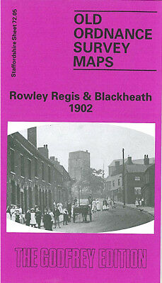 OLD ORDNANCE SURVEY MAP ROWLEY REGIS BLACKHEATH 1902 CAKEMORE BELL END ROSS