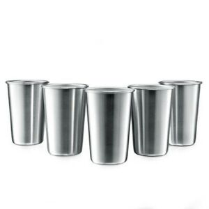 1-or-5-pcs-Stainless-Steel-Pint-Cups-Beer-Tumblers-Coffee-Mugs-Stackable-Whole