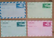 Israel 4 Aerogramme / Luftpostbriefe je ungebraucht ; #o990
