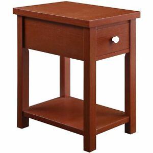 Whalen Furniture End Table With Drawer Red For Sale Online Ebay